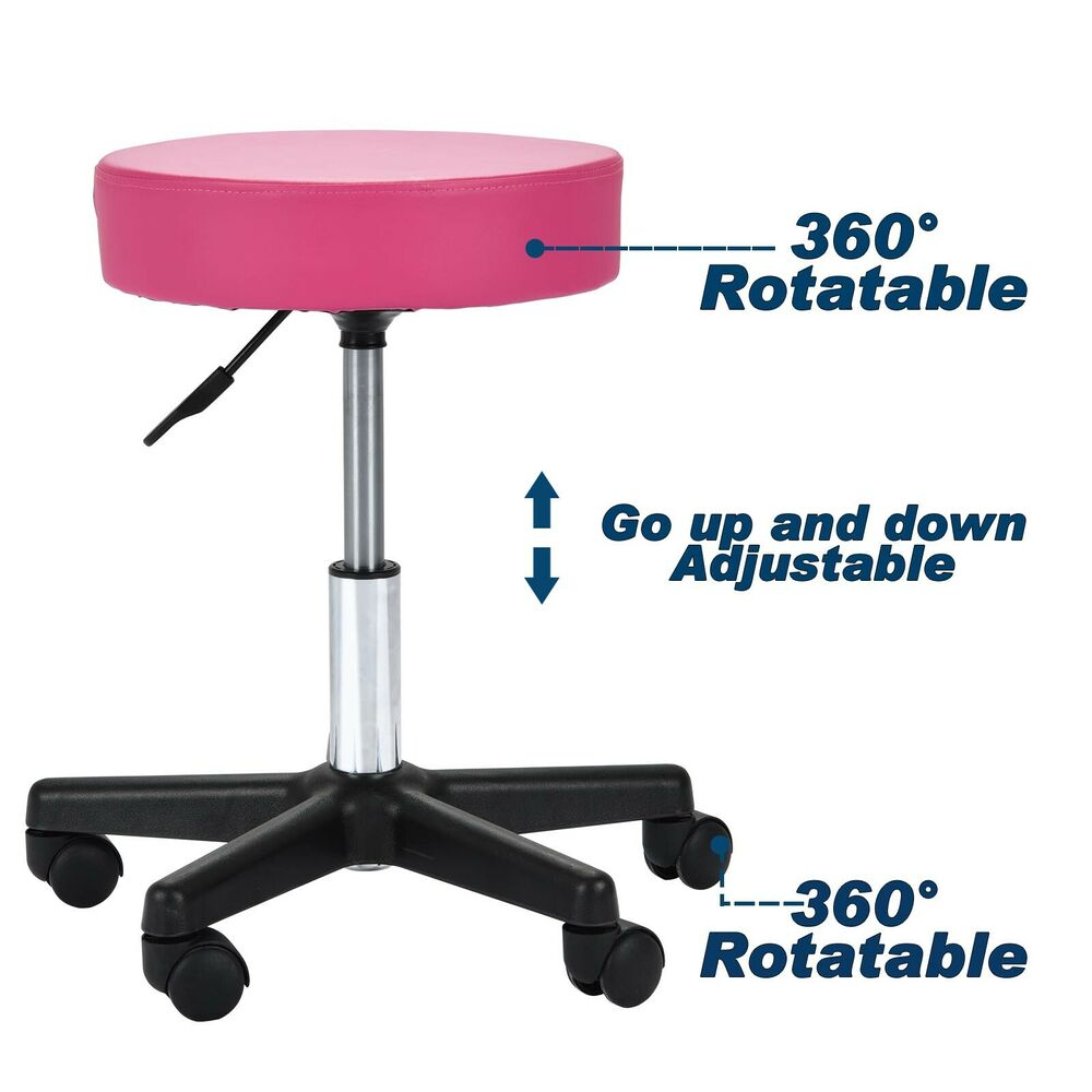 Tattoo Salon Stool Hydraulic Adjustable Rolling Chair