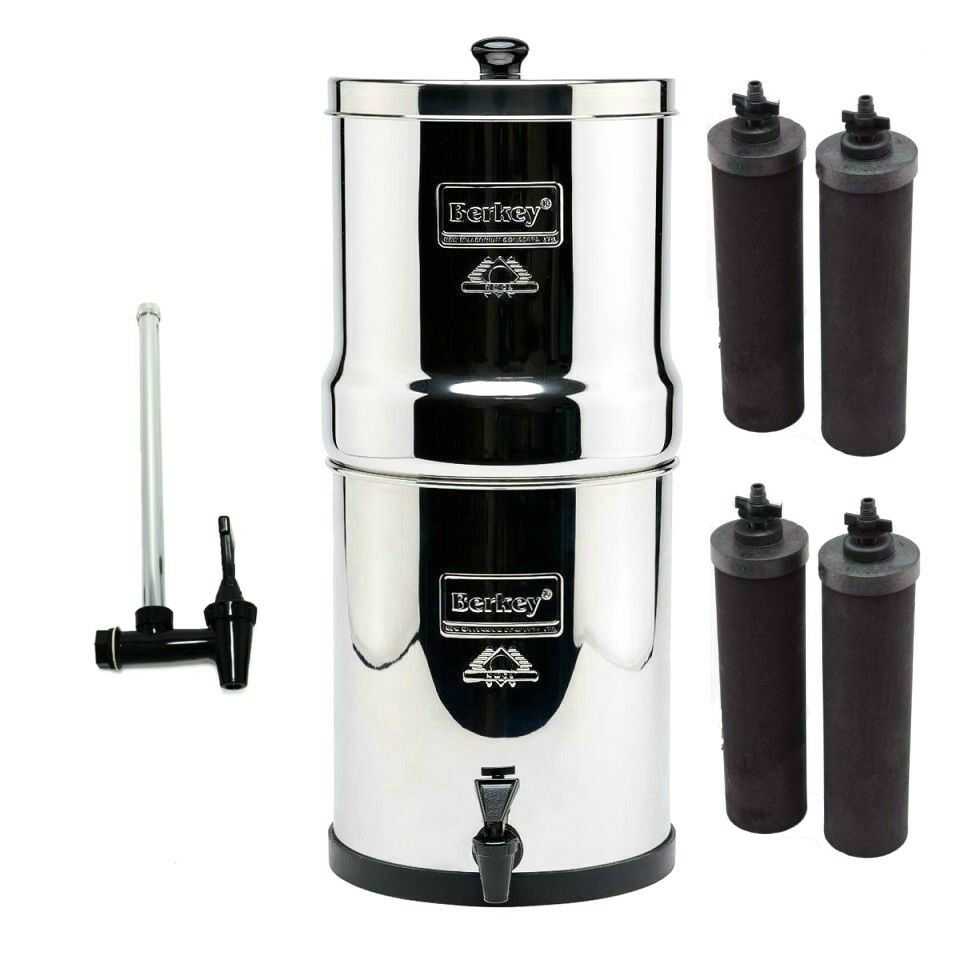 Big Berkey Water Purifier System W 4 Black Filters Amp 7 5