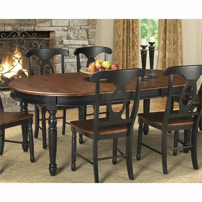 A America British Isles Oval Extendable Dining Table In