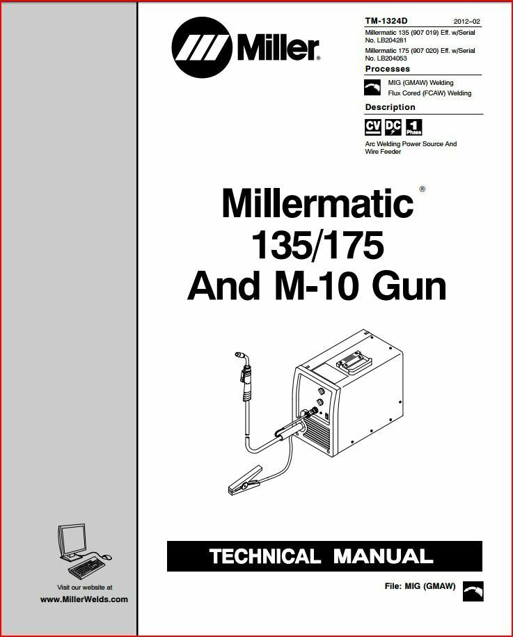 Millermatic 135 175 service manual lb204053 lb204281 - Webaccess leroymerlin fr ...