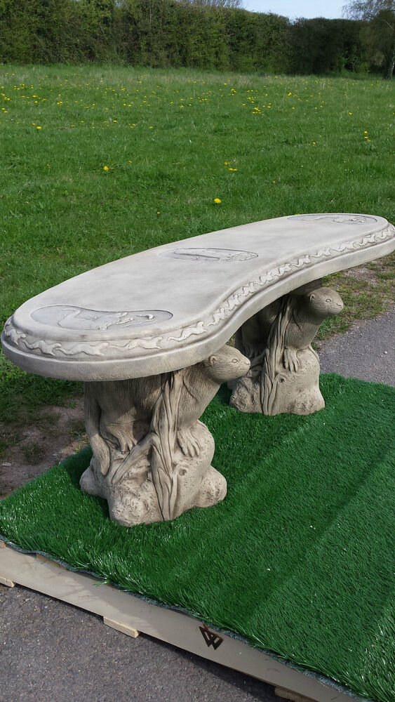 Reconstituted Stone Bench Concrete Curved Otter Design