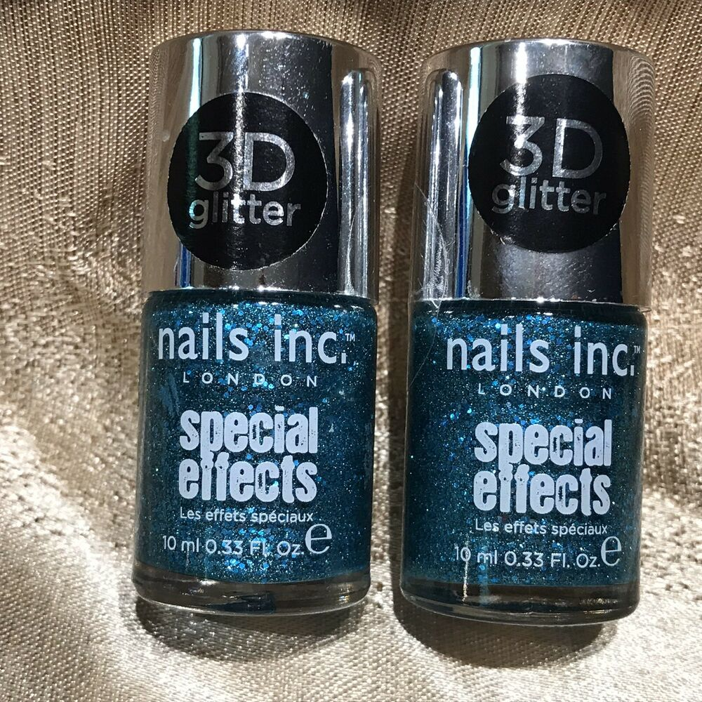 Nails Inc. FITZROY SQUARE Special Effects 3D Glitter Nail Polish Set ...