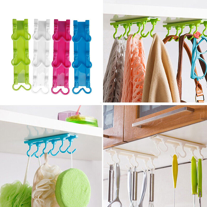 Kitchen Utensils Rack Holder Hook Ceiling Wall Cabinet