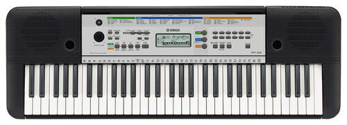 yamaha portable keyboard with 61 full size keys black. Black Bedroom Furniture Sets. Home Design Ideas
