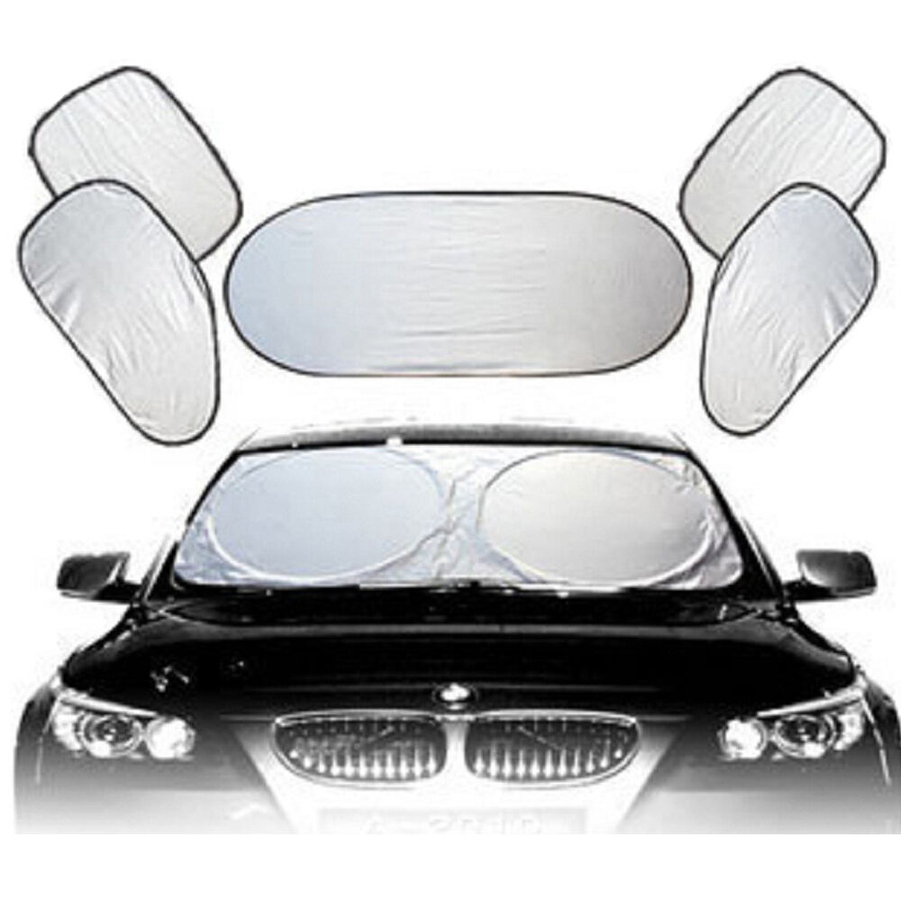 6pcs car all around sunscreen sun shade foldable window cover uv block sunproof ebay. Black Bedroom Furniture Sets. Home Design Ideas