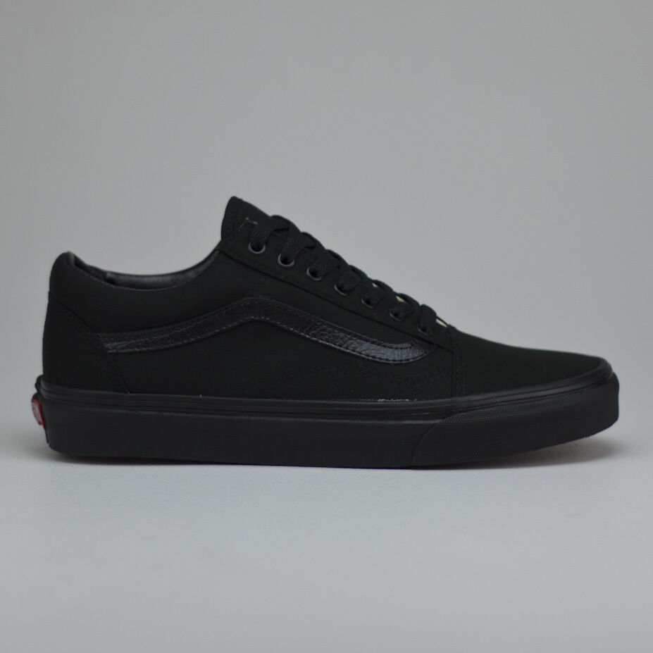 a2aa728953 Details about Vans Old Skool Trainers Pumps Shoes Black Black UK Size  3