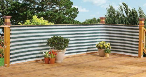 Deck fence privacy screen garden netting net patio pool for Balcony covering nets