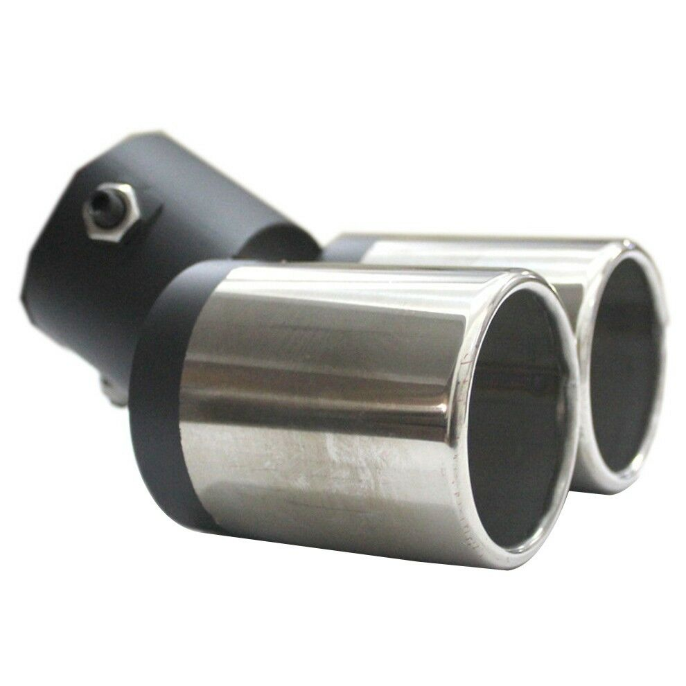 Car Suv 60mm Dual Exhaust Double Stainless Steel Chrome
