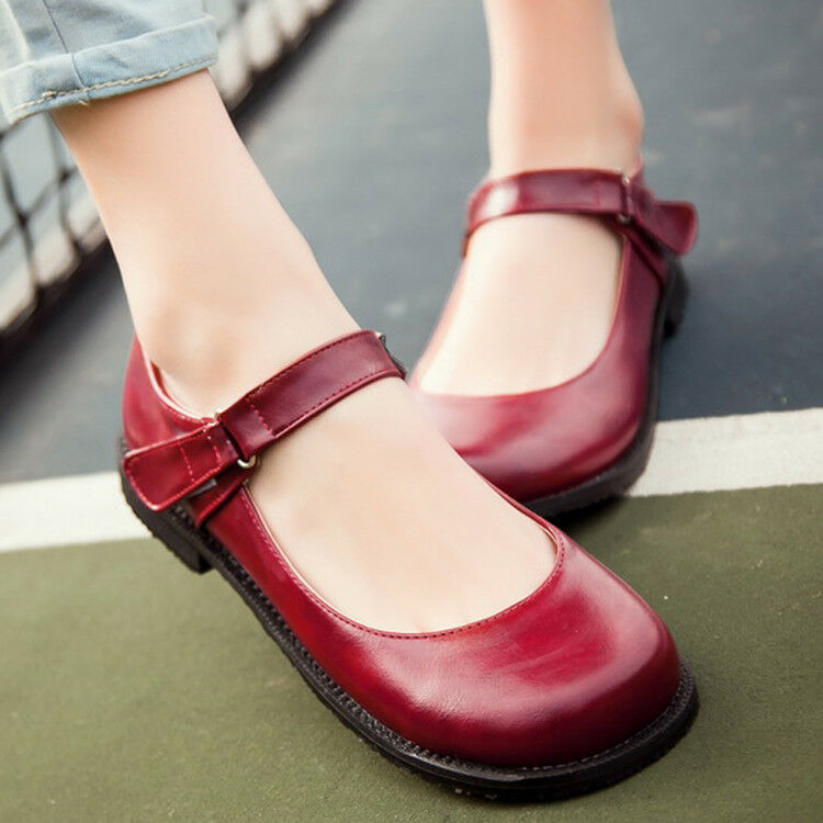 Low Heel Ankle Strap Dress Shoes