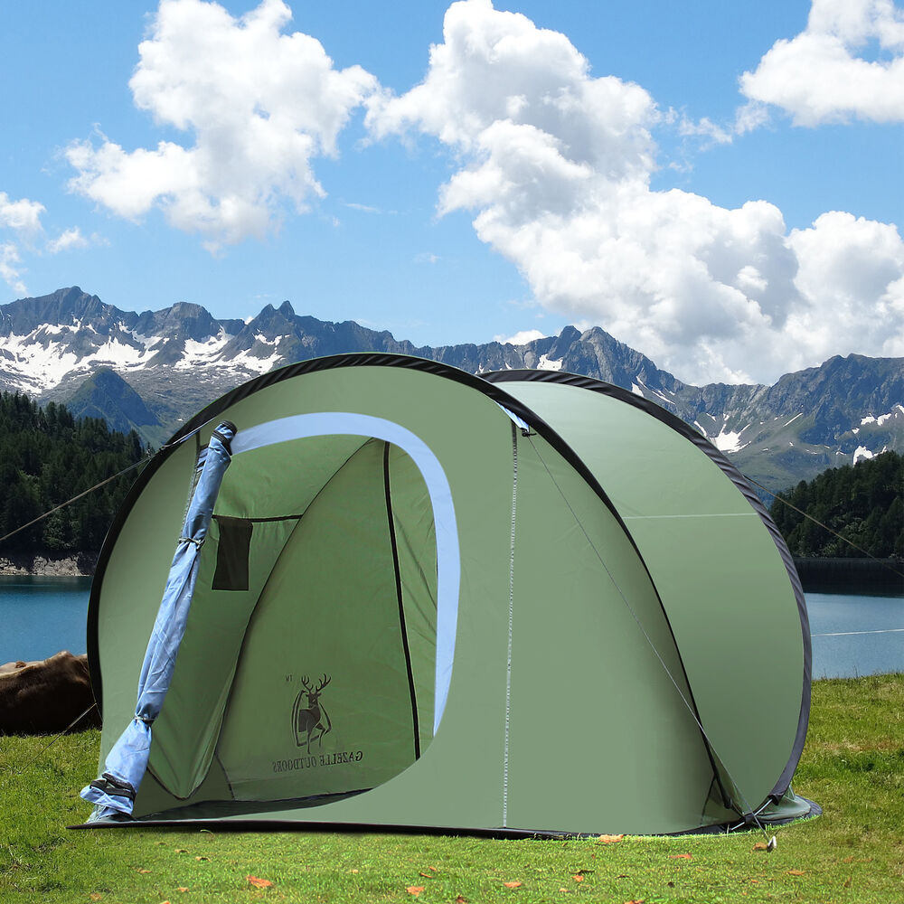 Gazelle Outdoors Camping Hiking Easy Setup Family Pop Up