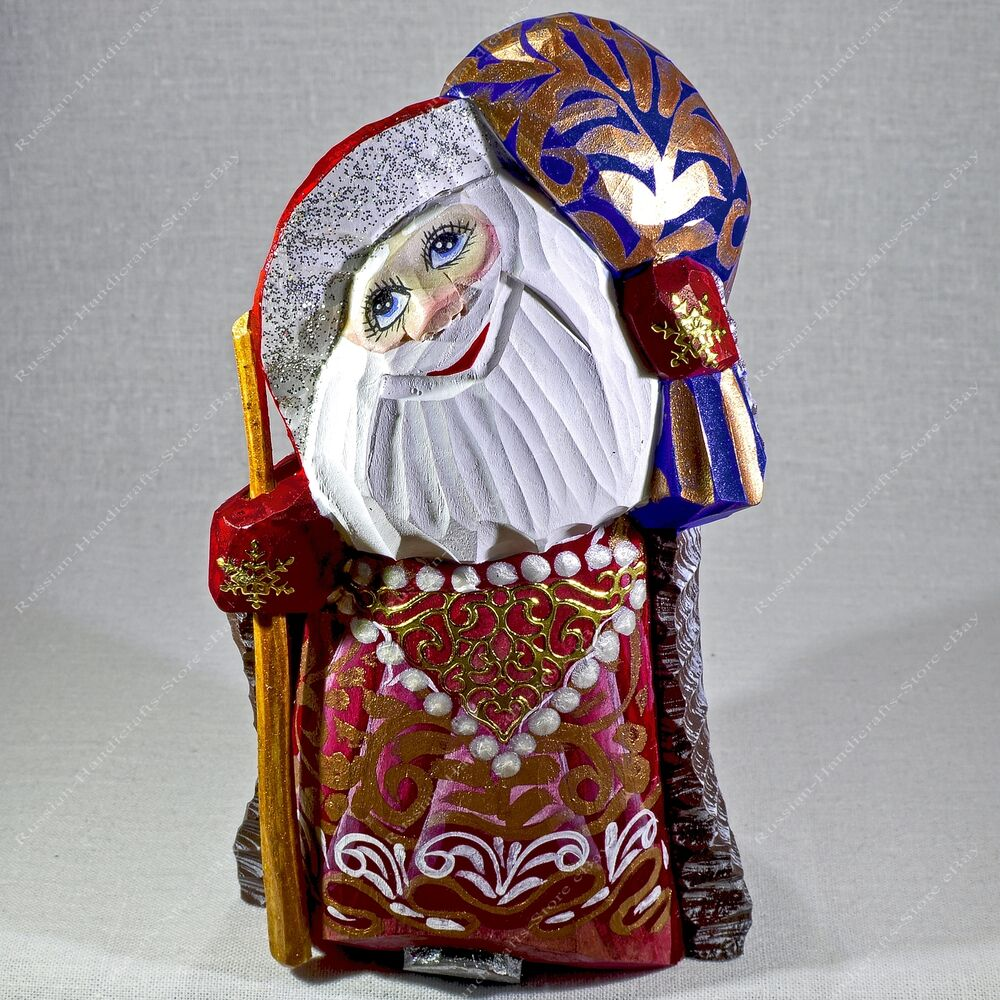 Santa claus statuette christmas russian father frost hand