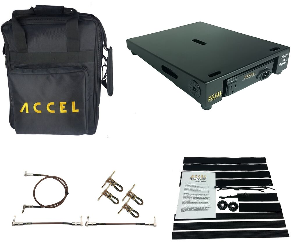 guitar effects modular pedal board accel xta10 pro compact with tote ebay. Black Bedroom Furniture Sets. Home Design Ideas