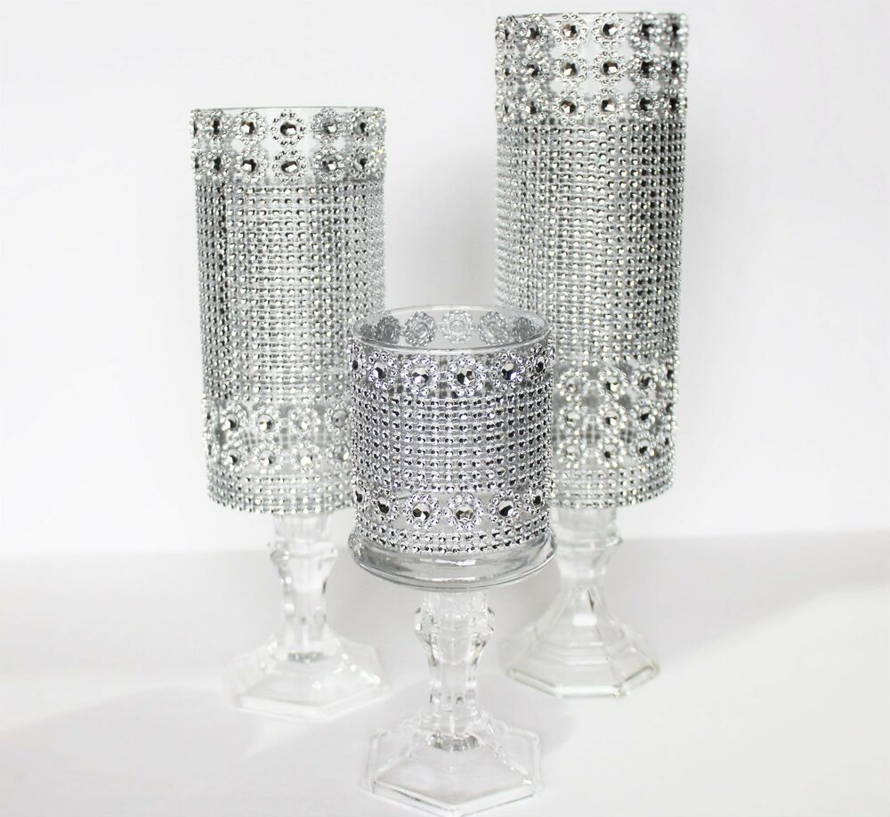 Set candle glass holder wedding centerpieces decor