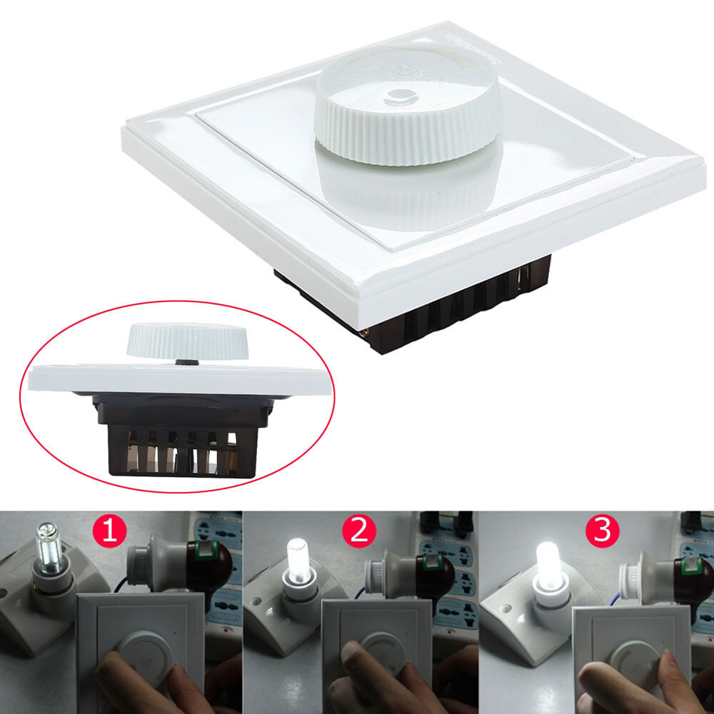 Led Strip Light Wall Dimmer: AC 220V Rotary Dimmer Wall Controller LED Light Switch For