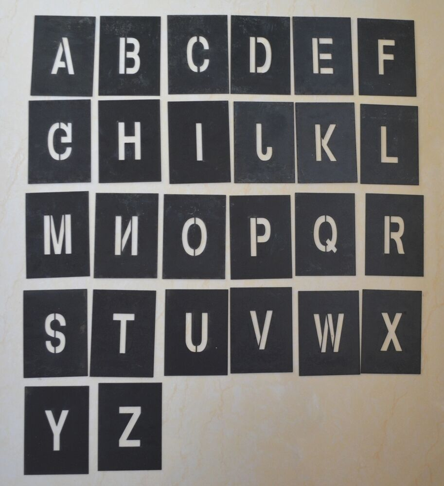 material letters template - alphabet a z number 0 9 stencil template pvc materials