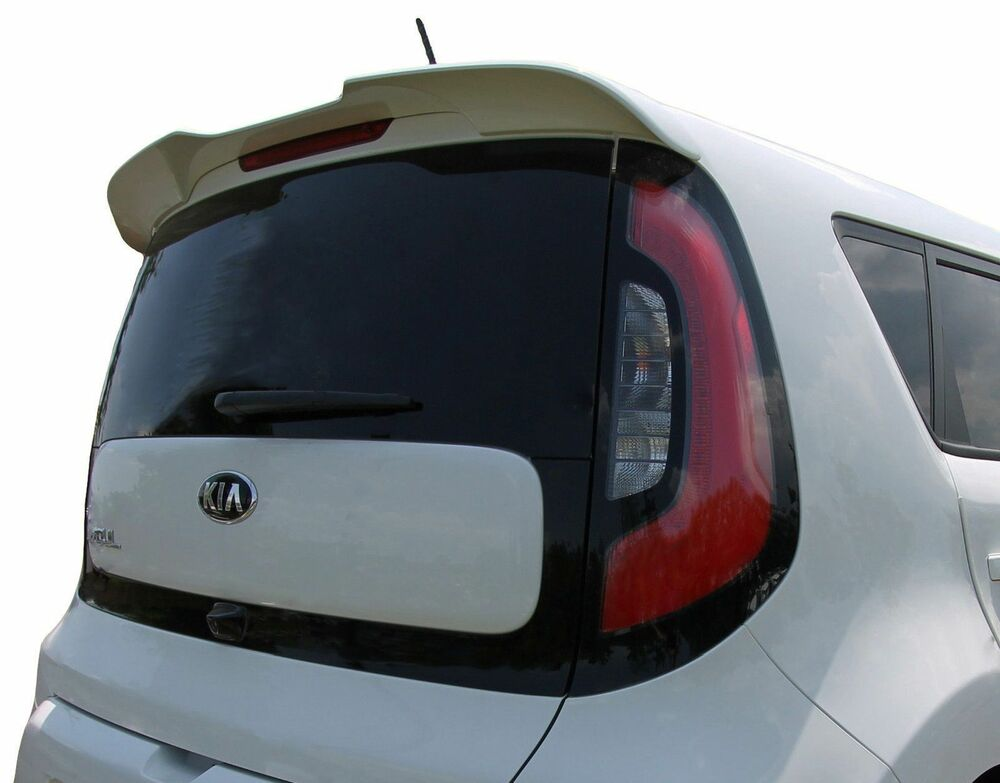 Kia Soul Accessories >> 2014-2018 UNPAINTED ABS REAR TRUNK SPOILER FOR A KIA SOUL FACTORY STYLE WING | eBay