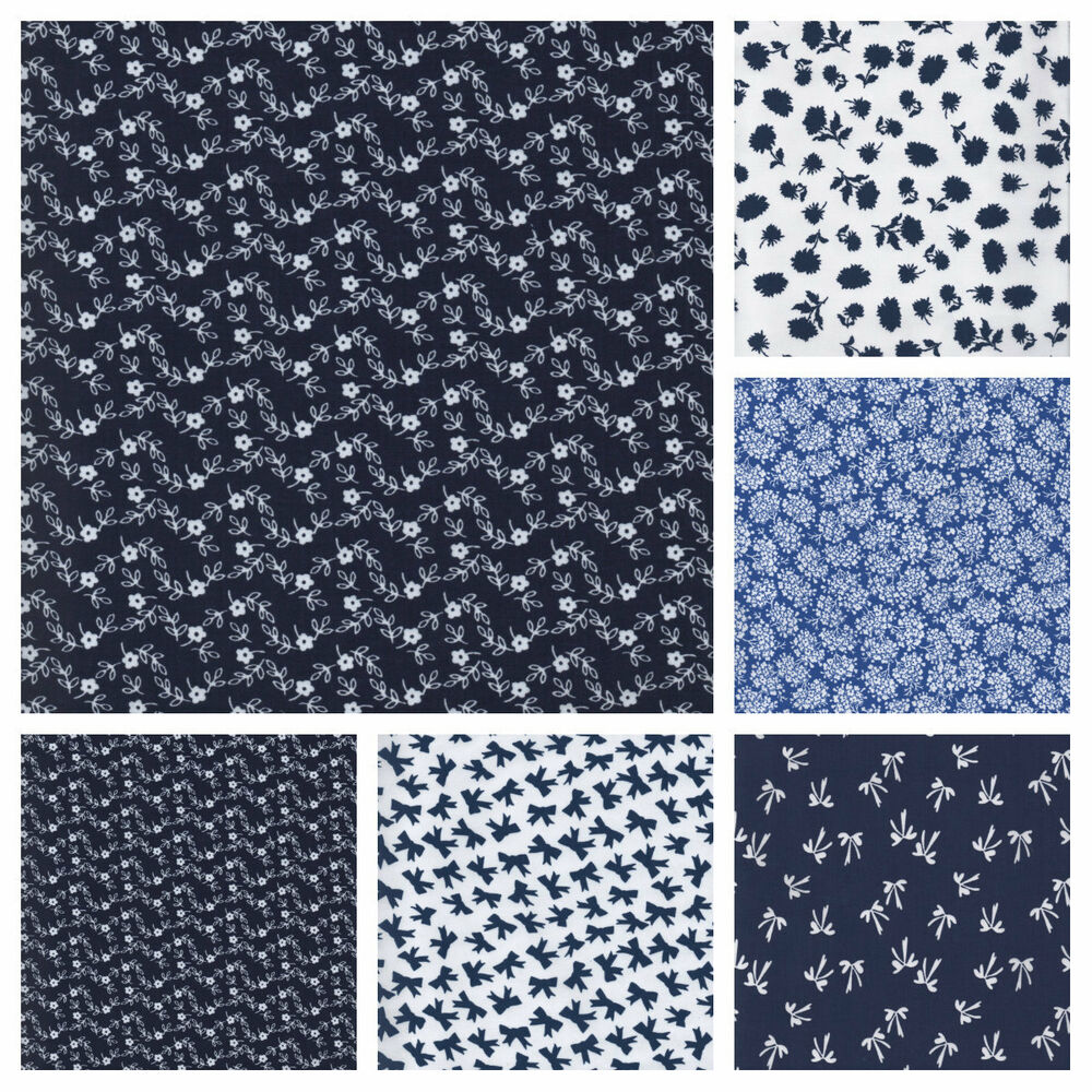 Dressmaking 100 cotton lawn fabric baby blue royal bows for Dressmaking fabric