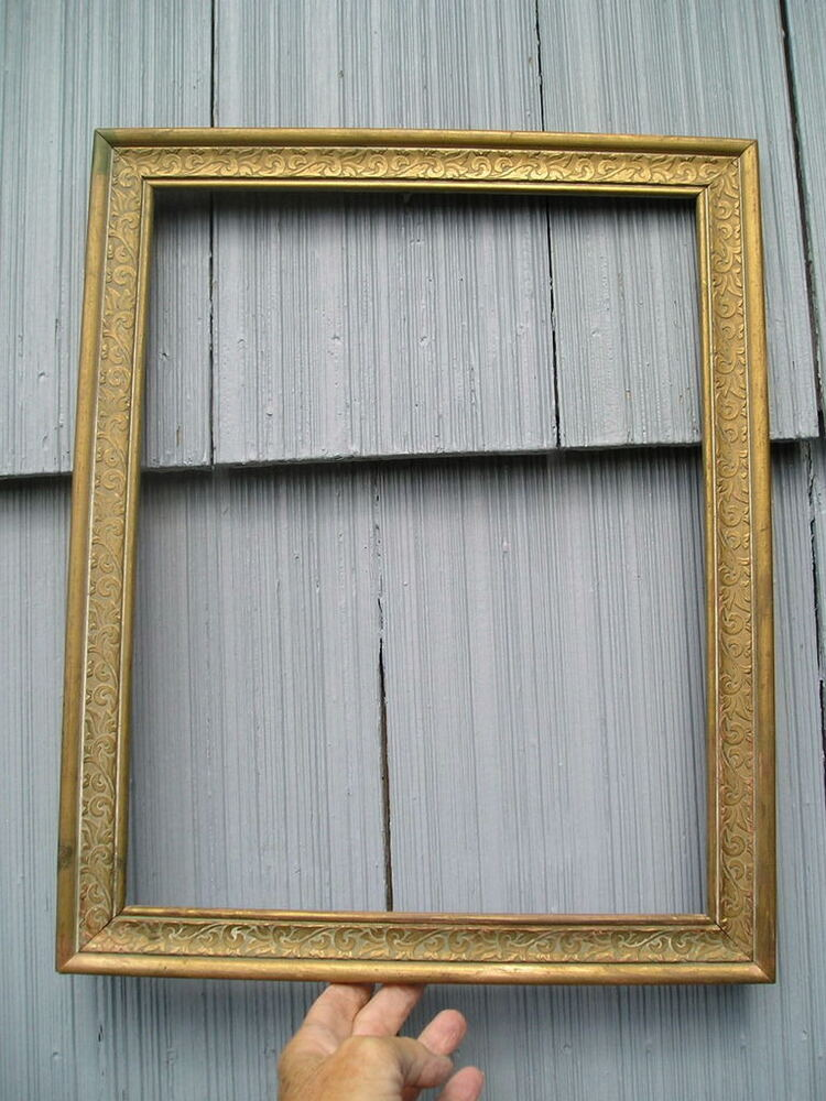 Vintage pressed pattern cottage style gold gilt swirl for Bungalow style picture frames