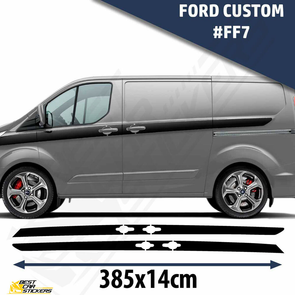 Fits Ford Custom Van Side Racing Stripes Decal Graphics