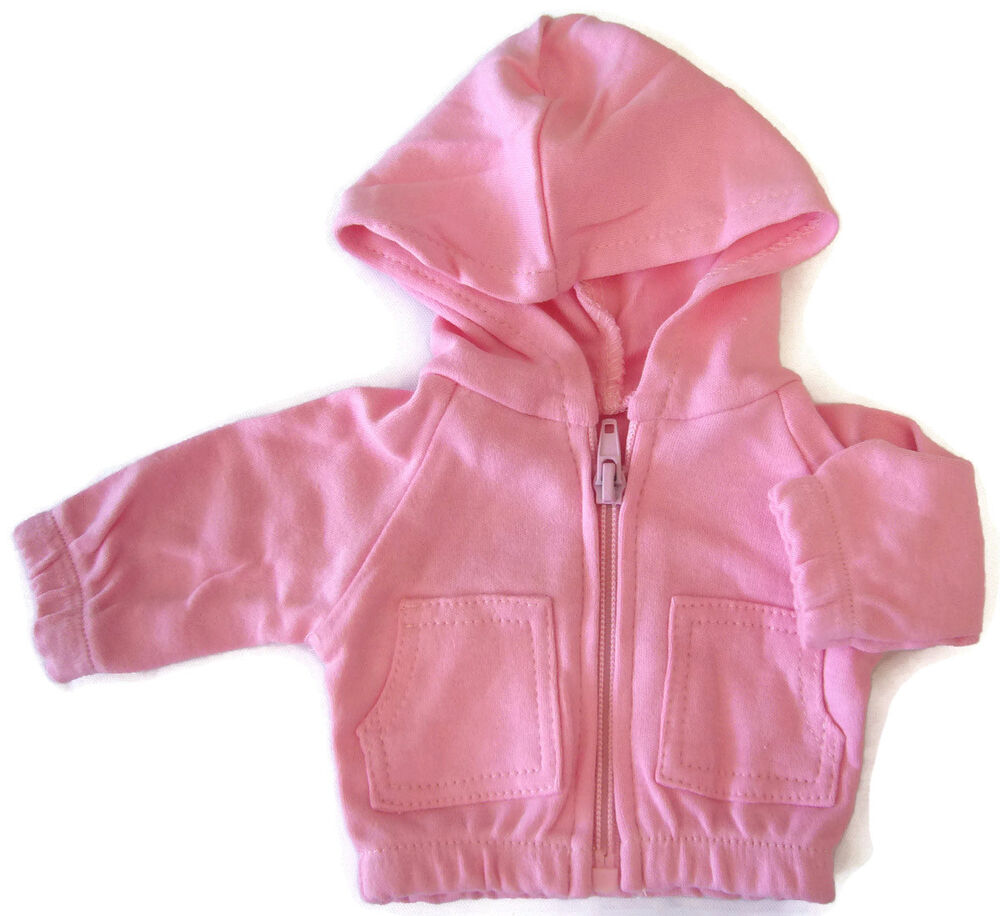 Pink Hoodie Jacket for Bitty Baby + Twins Doll Clothes ...