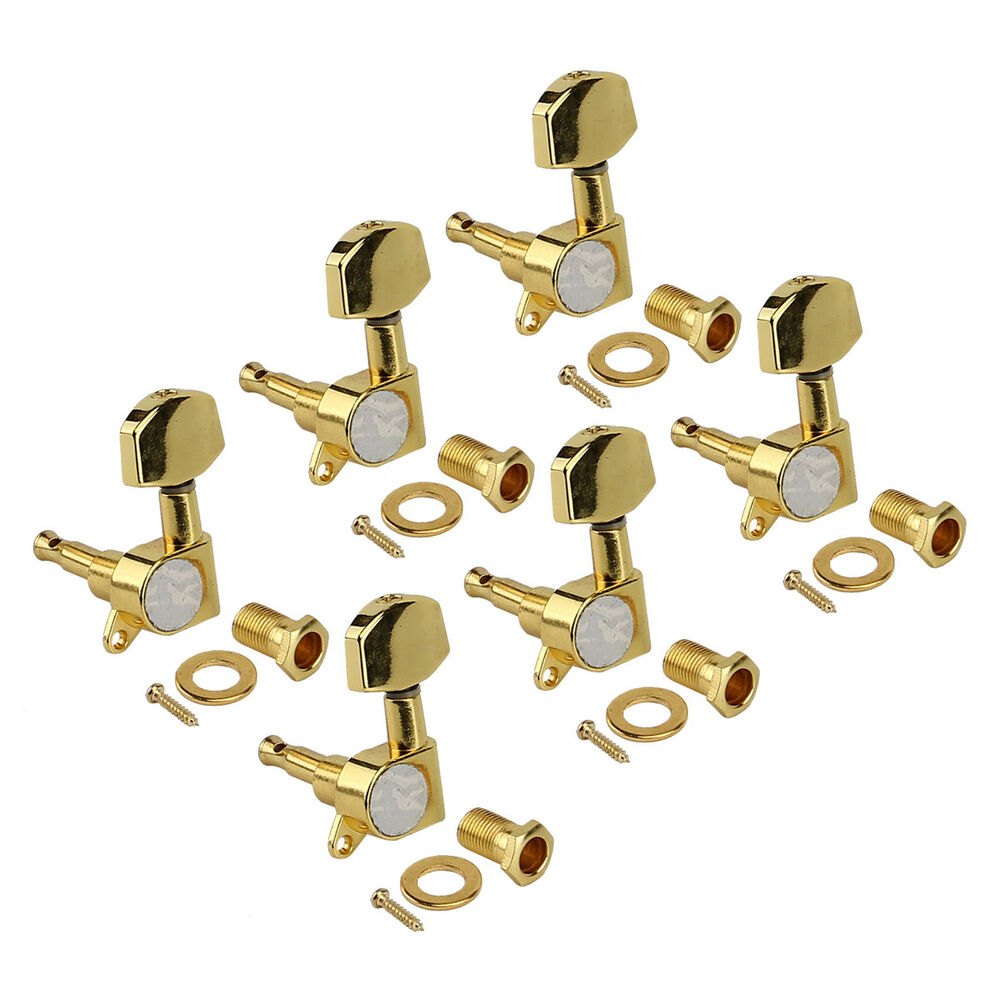 electric guitar tuning pegs tuners keys machine heads for acoustic parts 6l gold ebay. Black Bedroom Furniture Sets. Home Design Ideas