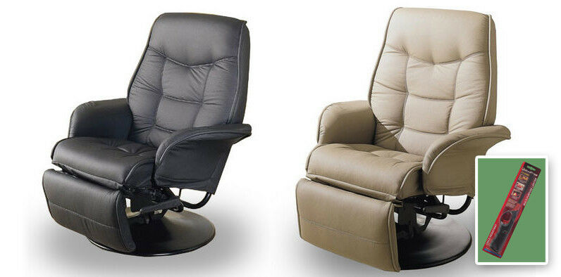 Details About Tan Or Black Swivel Seat Recliner Captains Chair RV Travel  Trailer Boathouse
