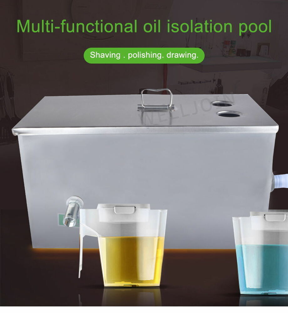 Industrial Kitchen Grease Trap: Stainless Steel Grease Trap Interceptor For Restaurant