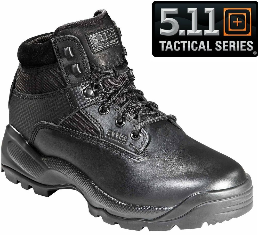"5.11 Tactical Mens Black ATAC 6"" Military & Police Field ...