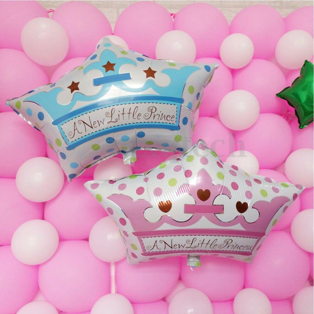 Crowns For Baby Shower: 24x16inch Prince/Princess Crown Foil Balloon Baby Shower