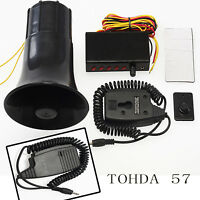 NEW HQ 12V 5 Sounds Loud Horn/Siren Car Van Truck With Mic PA System&Control 30W
