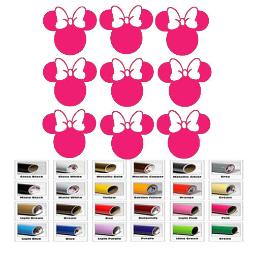 Minnie Mouse Sticker Vinyl For Princess Party Cup Decal Kids