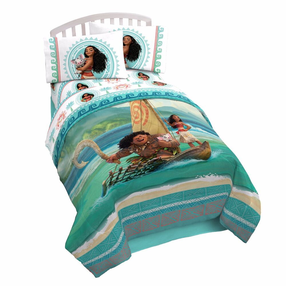 New Kids Disney Moana Bed In A Bag Comforter Set 3