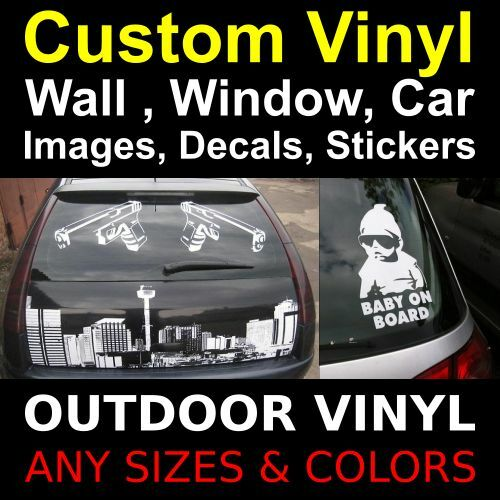 Custom vinyl decalsstickersimagesletteringphoto window for Custom vinyl lettering for cars