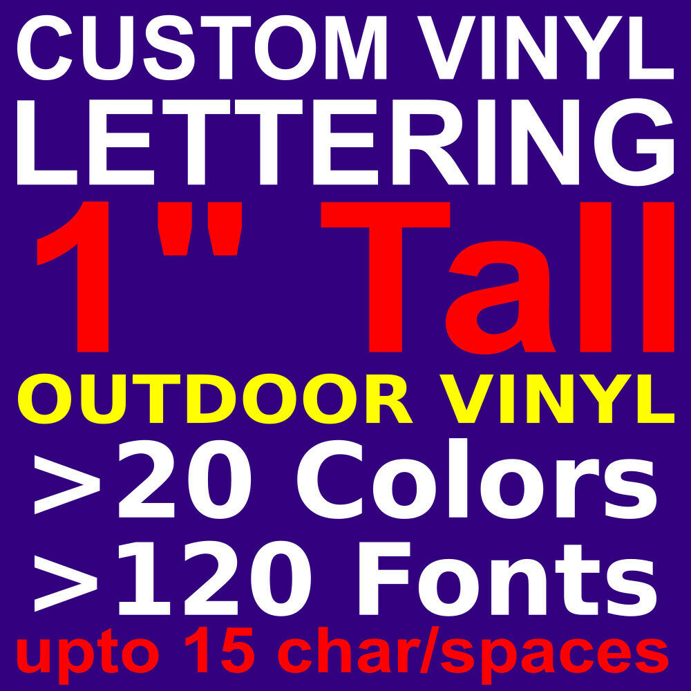Details about 1 custom vinyl lettering vinyl stickers decals letters for wallwindowcar