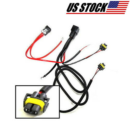 H relay wiring wire harness conversion kit for fog