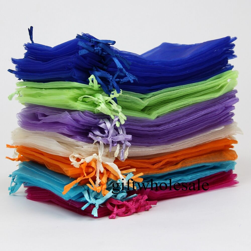 Wedding Gift Pouches: Wholesale Organza Jewellery Packing Pouches Wedding Party