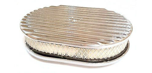 Nostalgia Air Cleaners : Quot oval full finned polished aluminum air cleaner