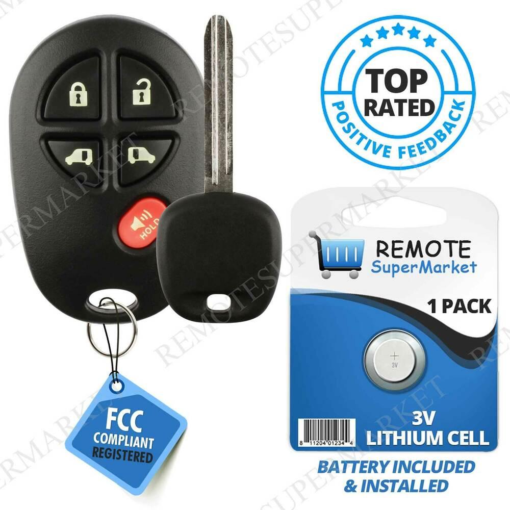 Replacement for Toyota 2011 2013 Sienna Remote Car Keyless