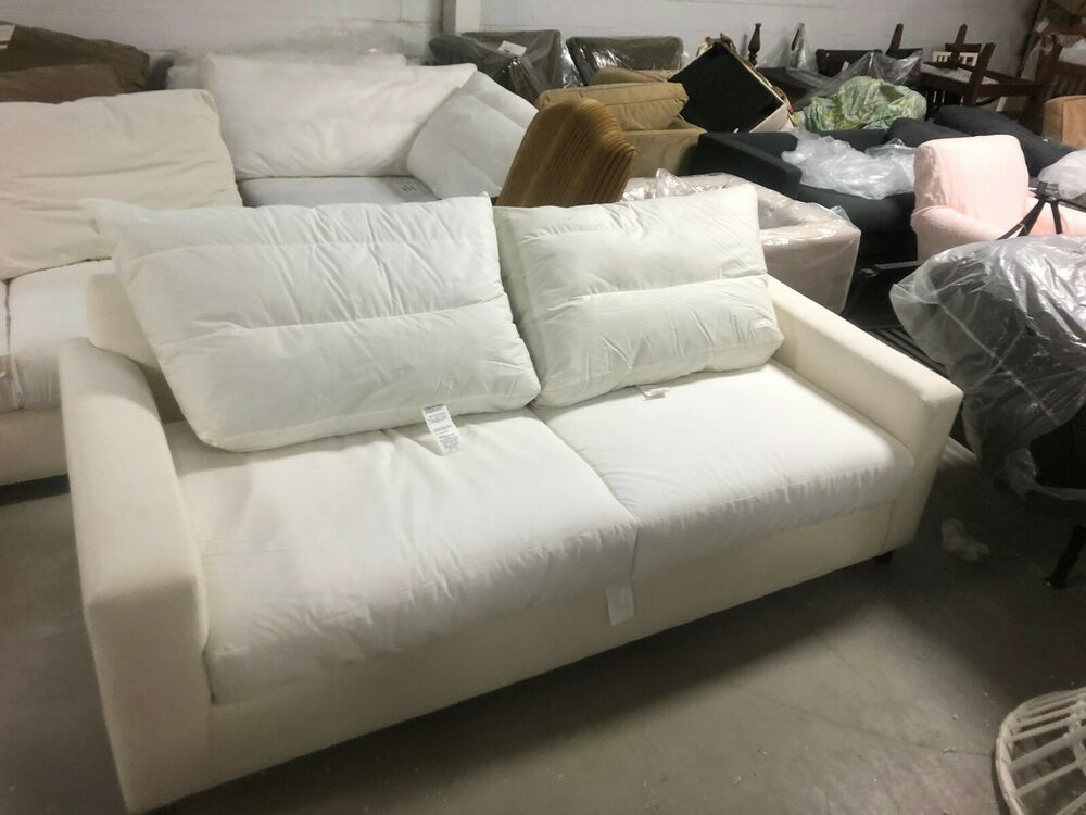 Pottery Barn Pb Comfort Roll Arm Sofa Couch Box Edge