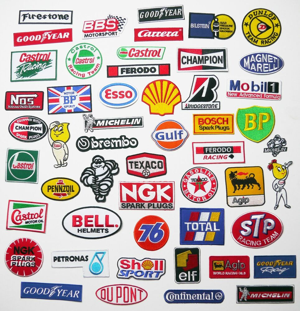 Motorsport sponsor jacket patches 100 designs any patch for Bp select motor oil