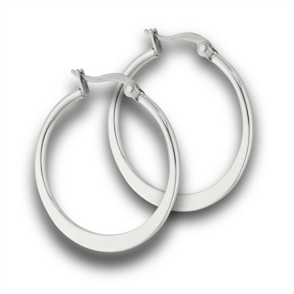 Basic stainless steel endless latch top hoop earrings for What metal is best for jewelry