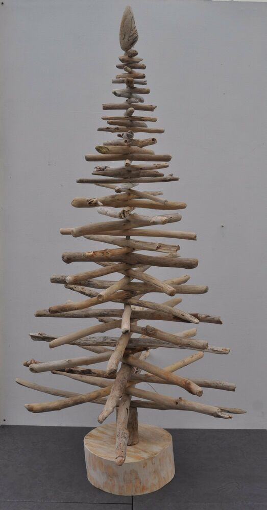 Driftwood 3ft 90cm christmas tree shabby chic home decor x for Hanging driftwood christmas tree