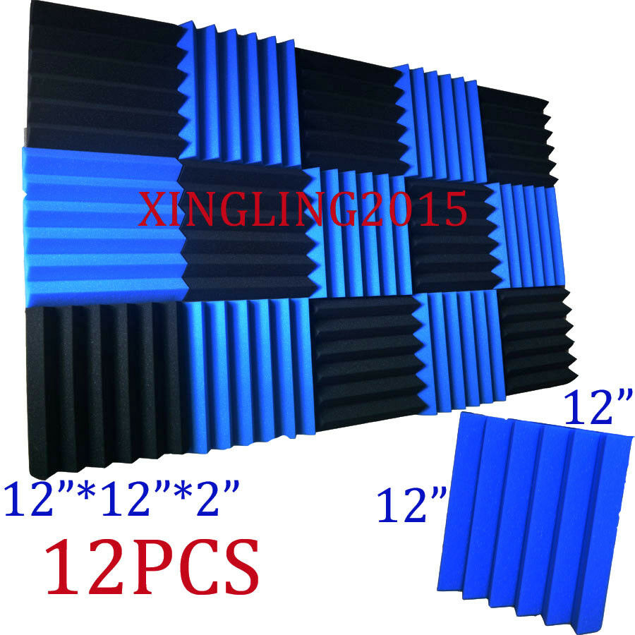 2x12x12 12 Pack Blue Charcoal Acoustic Wedge