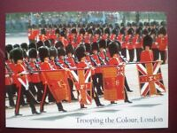 POSTCARD RP LONDON TROOPING THE COLOUR 1ST & 2ND BATTLION GRENIDIER GUARDS