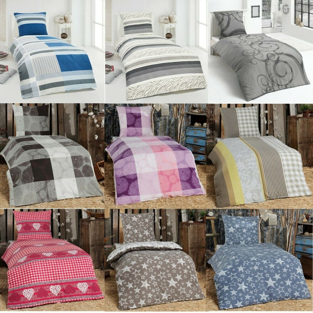 microfaser flausch fleece winter bettw sche kuschel weich 135x200 kissenbezug ebay. Black Bedroom Furniture Sets. Home Design Ideas