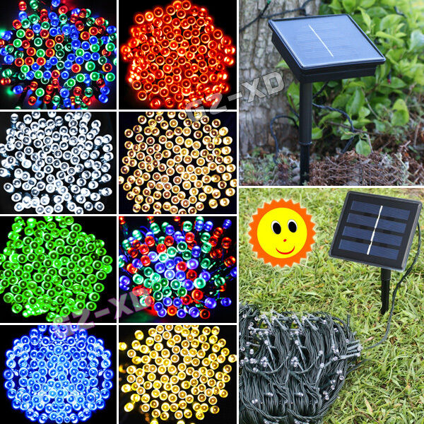Solar Powered LED String Fairy Lights Garden Xmas Christmas Tree Fence Outdoo
