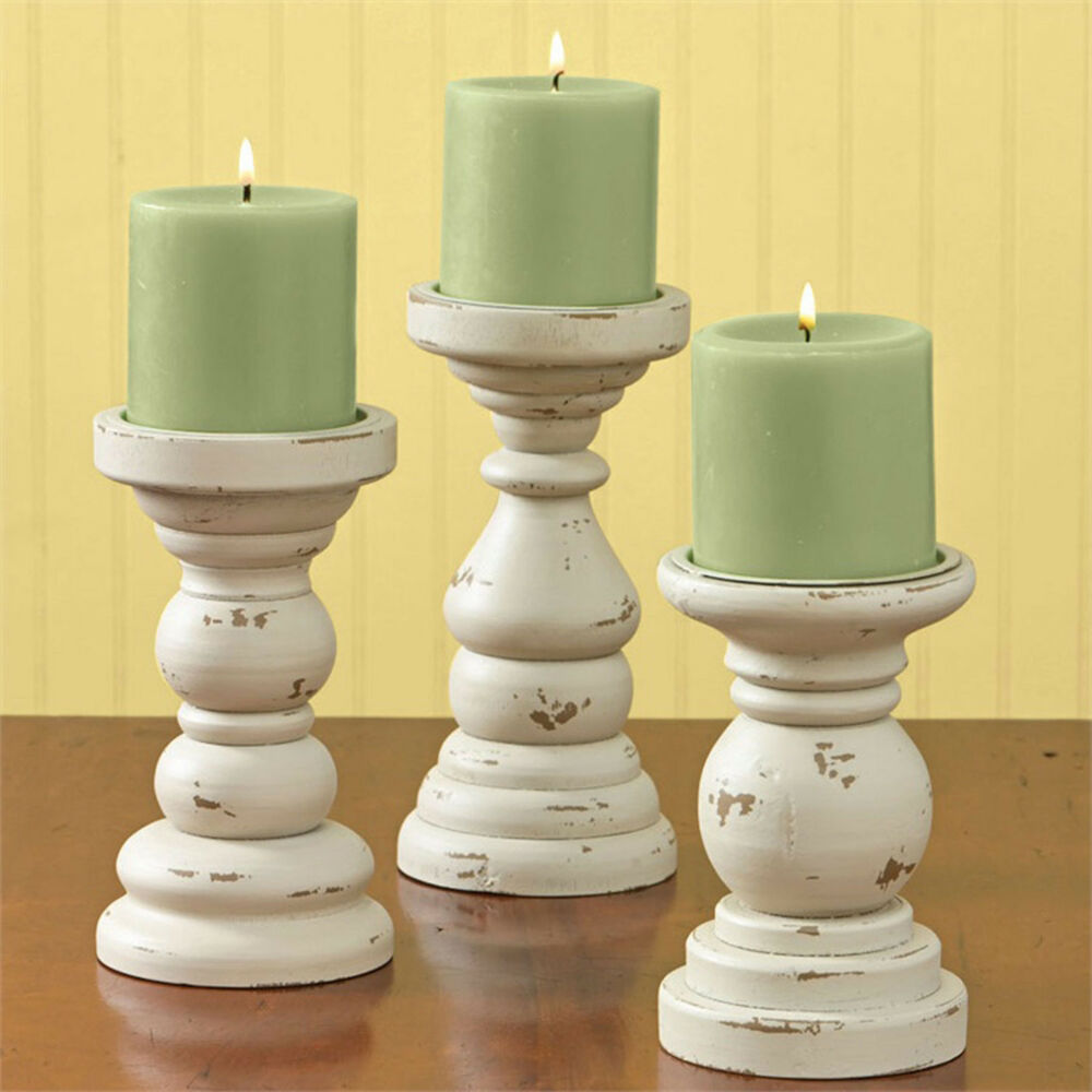 Park Designs Southport Wooden Candle Holders Set Of 3 Aged