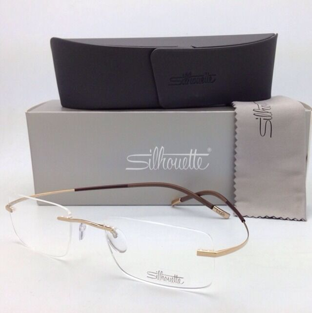 Gold Frame Rimless Glasses : New SILHOUETTE TITAN MINIMAL ART Rimless Eyeglasses 7577 ...