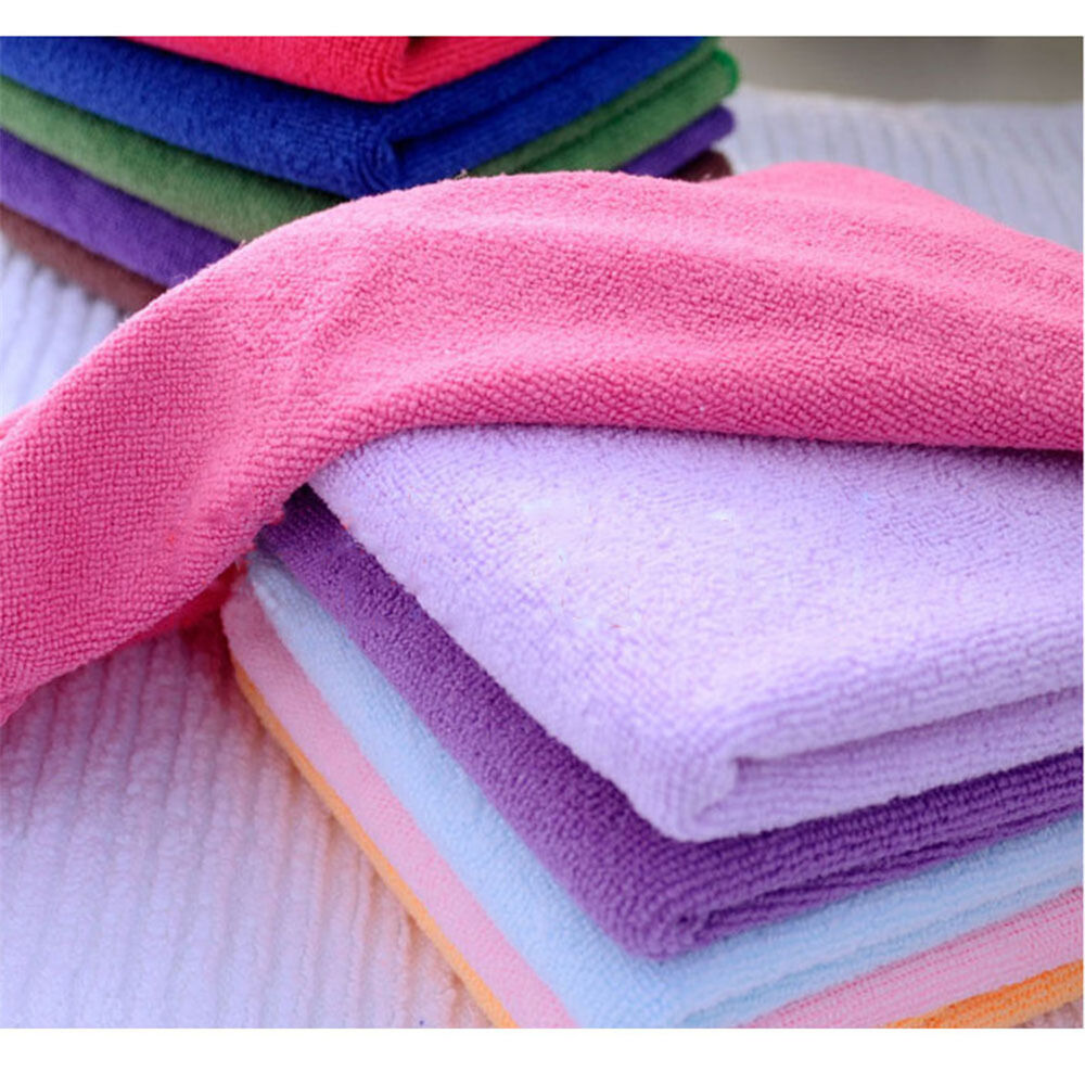 Zip Soft Microfiber Towel: 10pcs Soft Hand Square Towel Soothing Microfiber Face