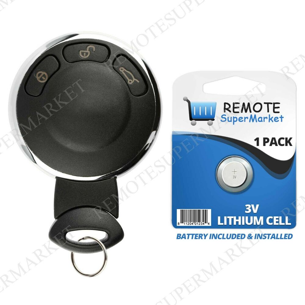 replacement for 2007 2014 bmw mini cooper smart remote car keyless entry key fob ebay. Black Bedroom Furniture Sets. Home Design Ideas